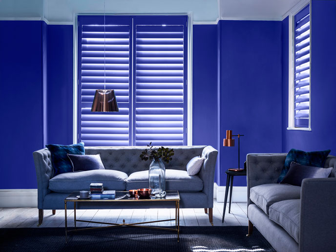 Photo by Painthouse  Shutters by California Shutters  Shutters and walls in Aksel