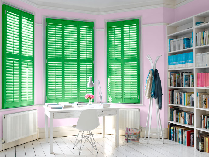 Photo by Painthouse  Shutters by California Shutters  Shutters in Colby walls in Piper