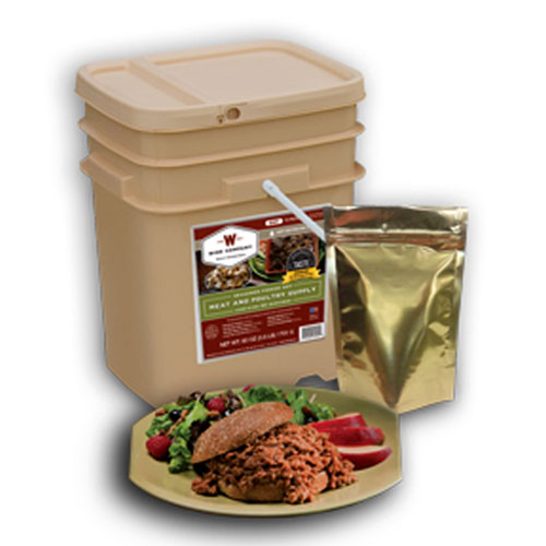 Wise 60 Serving Gourmet Freeze Dried Meat Grab & Go Bucket
