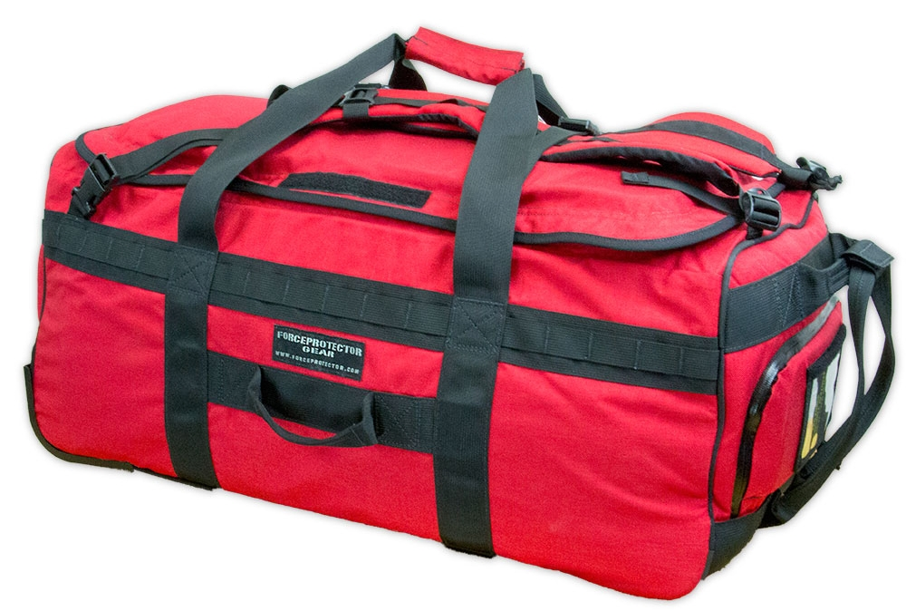 This large rolling duffle was pecifically designed for civilian first responders to use in any location where large crowds typically gather.