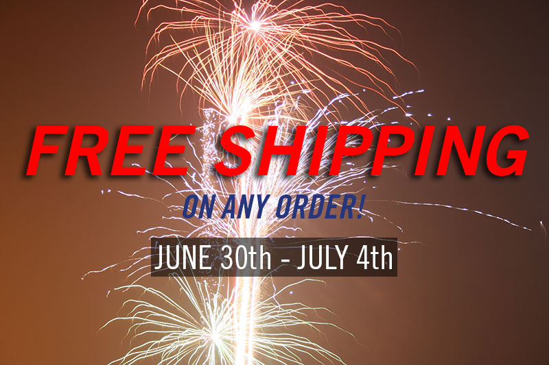 *Free shipping applies to standard shipping only. No coupon code required. No minimum purchase required.