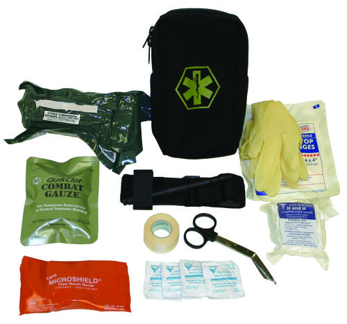 The Firearms Instructor First Aid Kit is designed to be carried by Range Instructors on the firing line. This pouch contains the basics to deal with minor injuries sustained by range shooters as well as critical items to employ in the event of a serious injury. It can be mounted on either a belt or MOLLE webbing. It is light, compact, and readily available at the point of injury.  Learn More