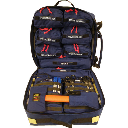 The Mass Casualty Incident Response Kit treats life-threatening injuries for 12-20 (+) casualties from a single bag. It contains numerous removable Trauma Packs; each individually capable of treating multiple persons having a variety of injuries. It is specifically designed for use in any location where large crowds typically gather.  Learn More