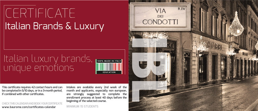 ITALIAN BRANDS & LUXURY CERTIFICATE