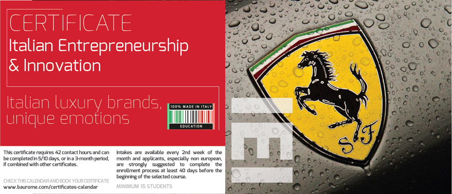 ITALIAN ENTREPRENEURSHIP & INNOVATION CERTIFICATE