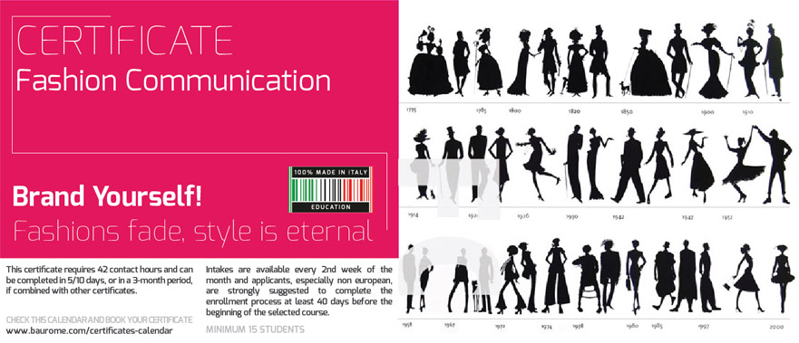 FASHION COMMUNICATION CERTIFICATE