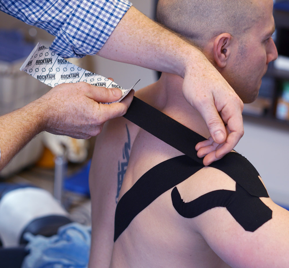 Active Spine & Sport uses kinesio taping for injury prevention and rehabilitation.