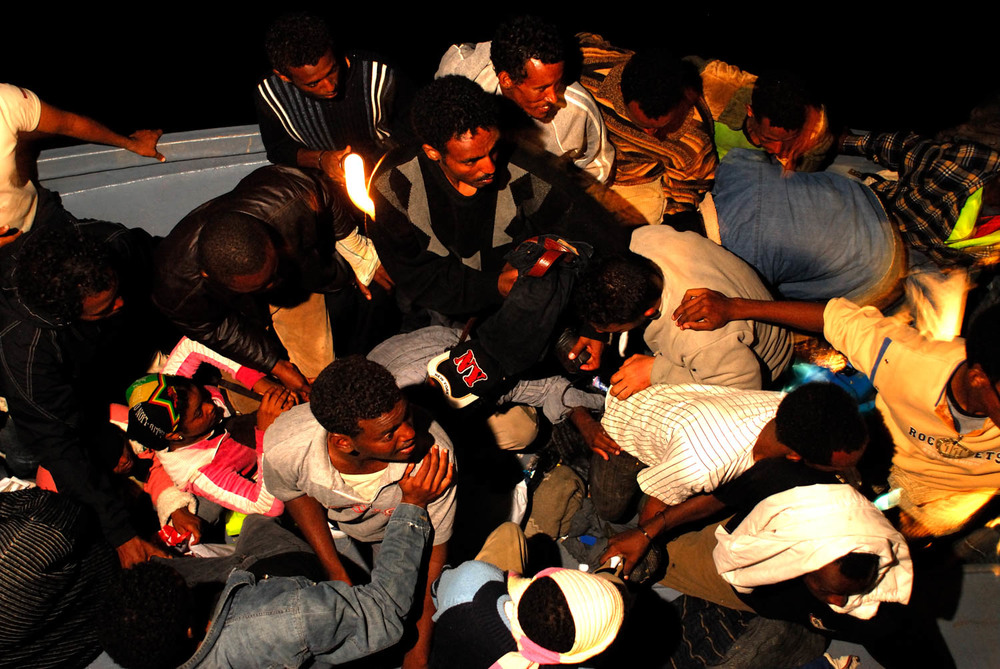 Sicily - Illegal Immigration - Night Rescue Operation