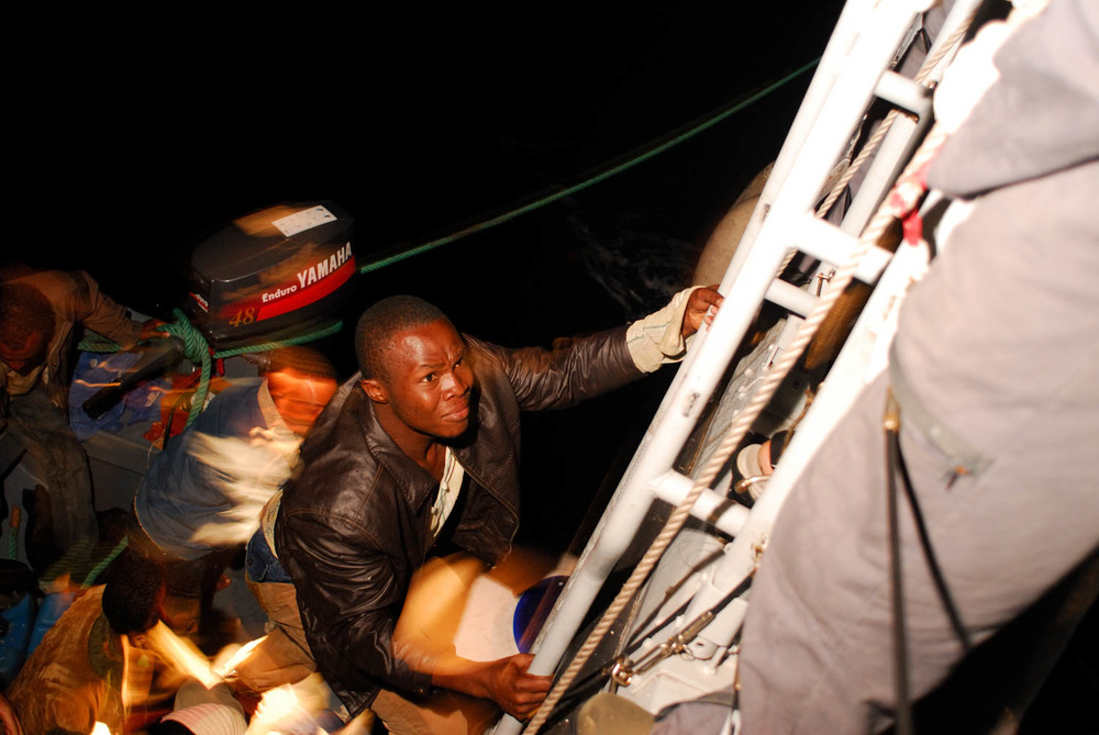 Sicily - Illegal Immigration - Night Rescue Operation 2