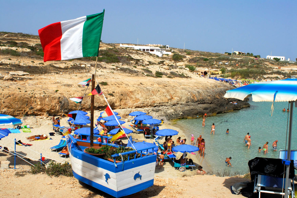 Sicily - Illegal Immigration - Cala Madonna Beach