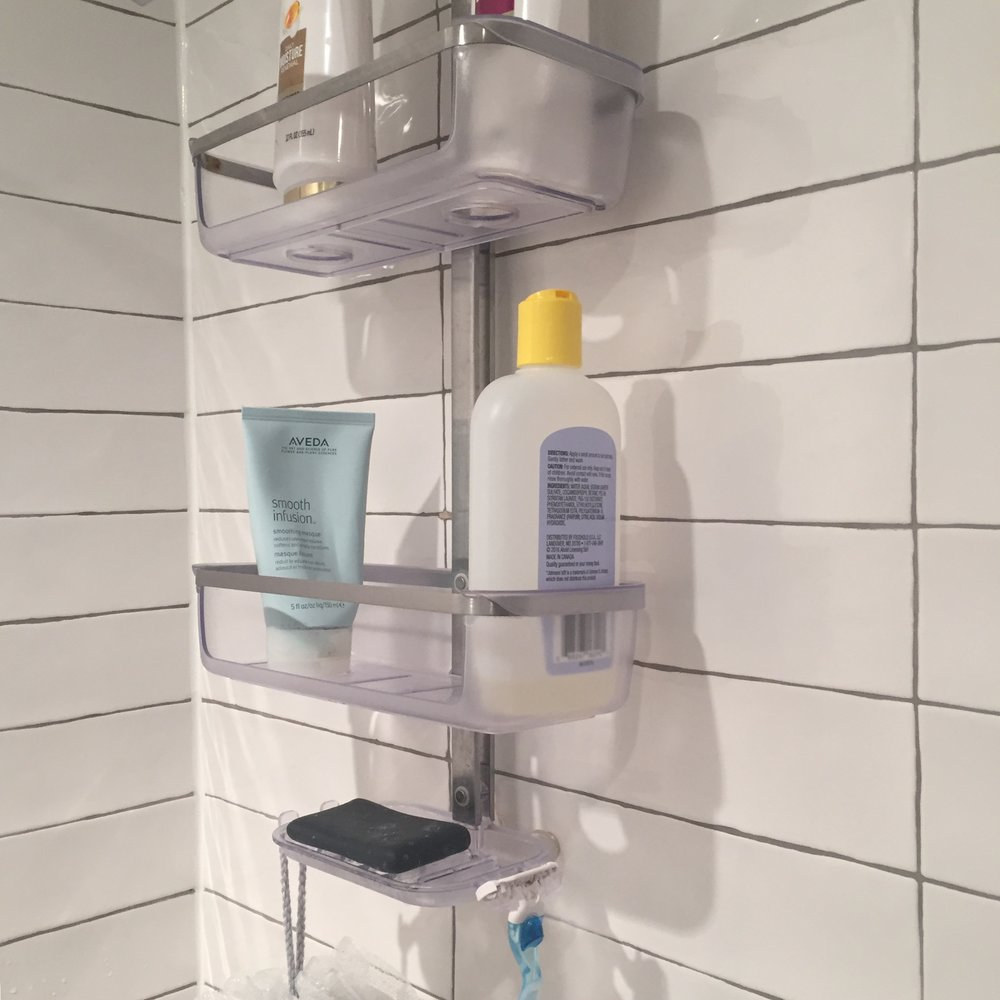 Get a shower caddy - Your shampoo bottle won't get moldy if it has a chance to dry and the solution is simple. Hang a caddy from your shower head and you'll even have a proper resting place for your razor.