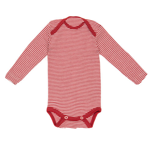 Mini Lila Onesies - Each of these pieces are made with a fabric blend of wool and silk which requires minimal washing, keeps babies cool with its wicking powers, and is extra soft. Basically, you can get rid of all of your other kids' clothing and put them in (the same) one of these every day!