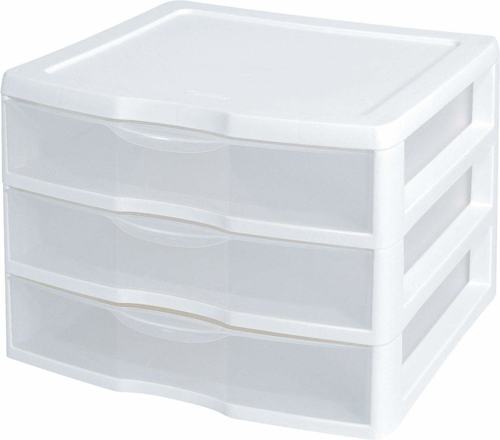 A Set of Drawers - Drawers are an ideal way to use vertical height, create easy access for your stuff and categorize! Designate one drawer for dental products, one for makeup, and one for travel products (or whatever three categories you choose!). Slap a label on the outside so you know what's what and BAM!