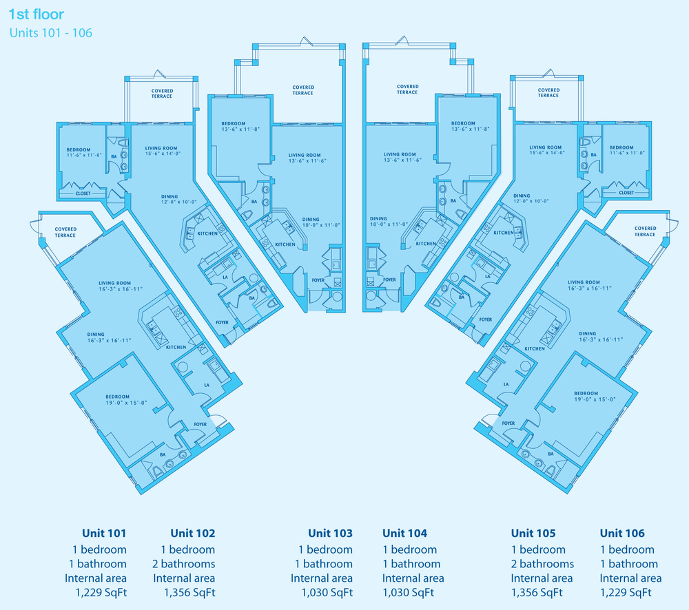 ONE BED CONDO PLANS - CLICK TO ENLARGE