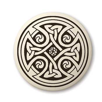 Celtic Cross Round Touchstone Pottery