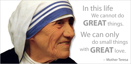 St. Teresa of Calcutta is the epitome of humility and confidence to be His hands and feet in the world..