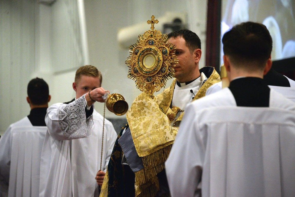 Adoration of the Blessed Sacrament.  Photo by Tomorrow's Memories by Christi.