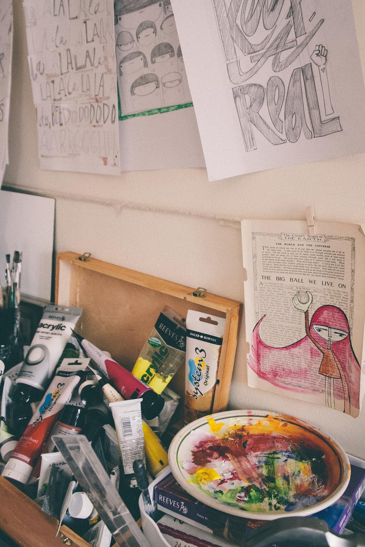 Yasmin Hood - Studio Tour | The Paperdolls
