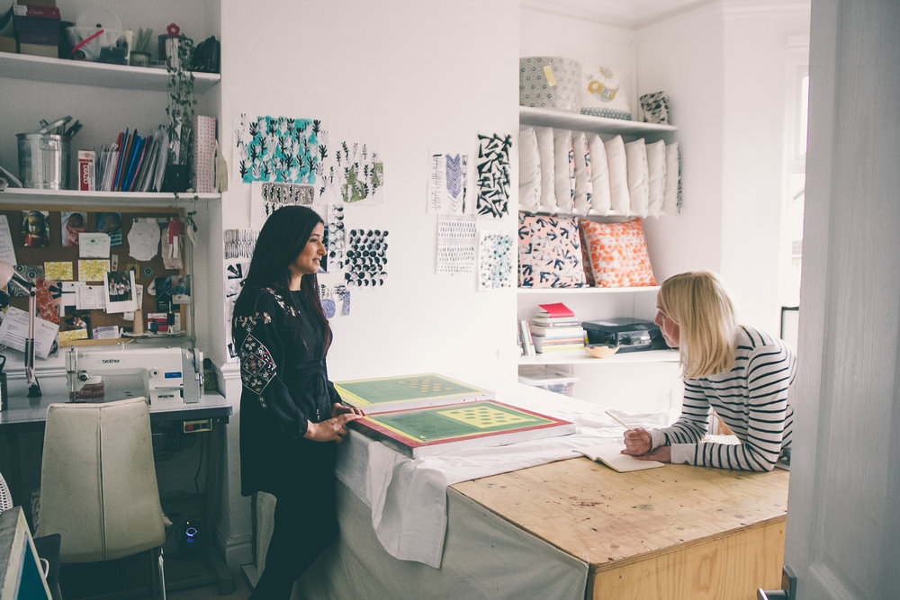 Azra Bano & Alex Walshaw - Paperdolls Studio Tour