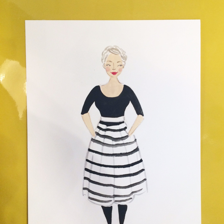 Emma Block Live Fashion Illustration at West Elm