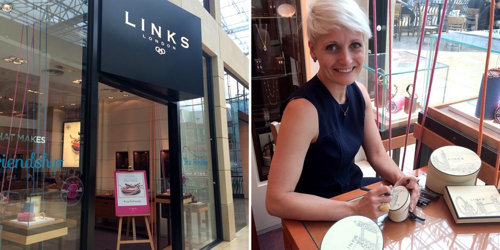 Willa live illustrating instore in Birmingham's Bullring