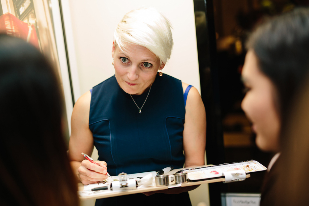 Willa Gebbie, Fashion Illustrator in Residence at Sofitel