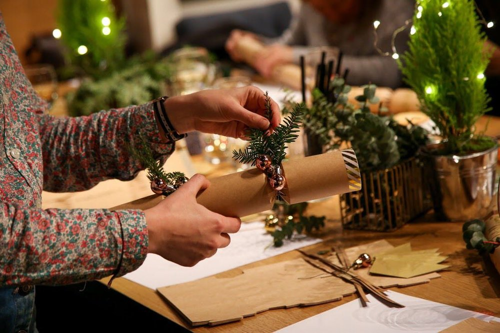 Emma Block Christmas cracker bespoke creative workshop