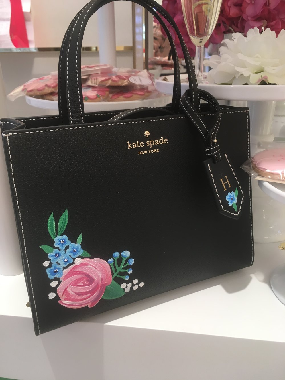 Leather Painting and customisation at Kate Spade
