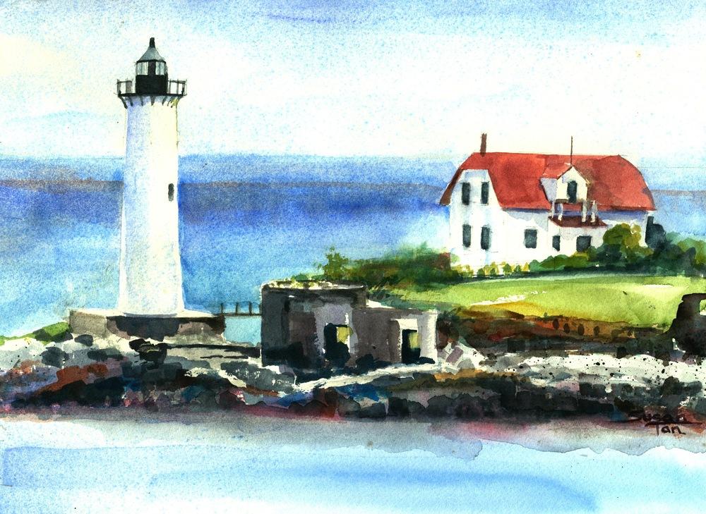 Portsmouth Harbor Lighthouse Seen from Kittery, Maine