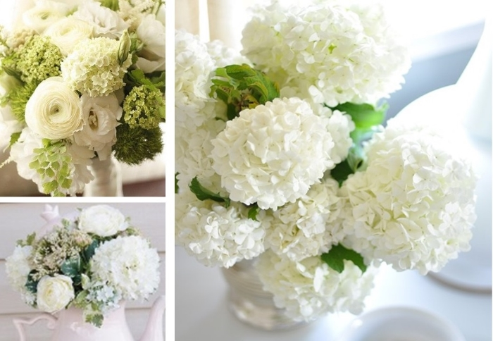 white viburnum arrangements