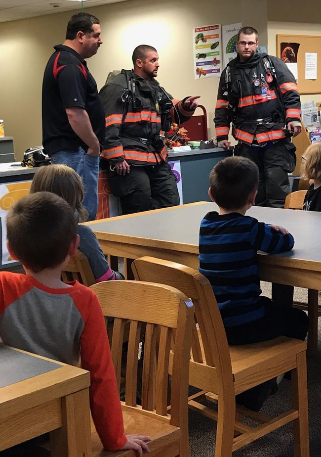 In the photo above from left were volunteers Matt Boudreau, Scott Shannon and Nick McLear. (photo provided.)
