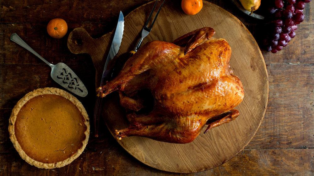 turkey on a table
