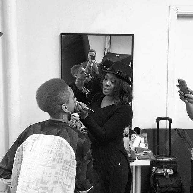 Sharaya J Banji  behind the scenes. Photoshoot by  Harold Julian .