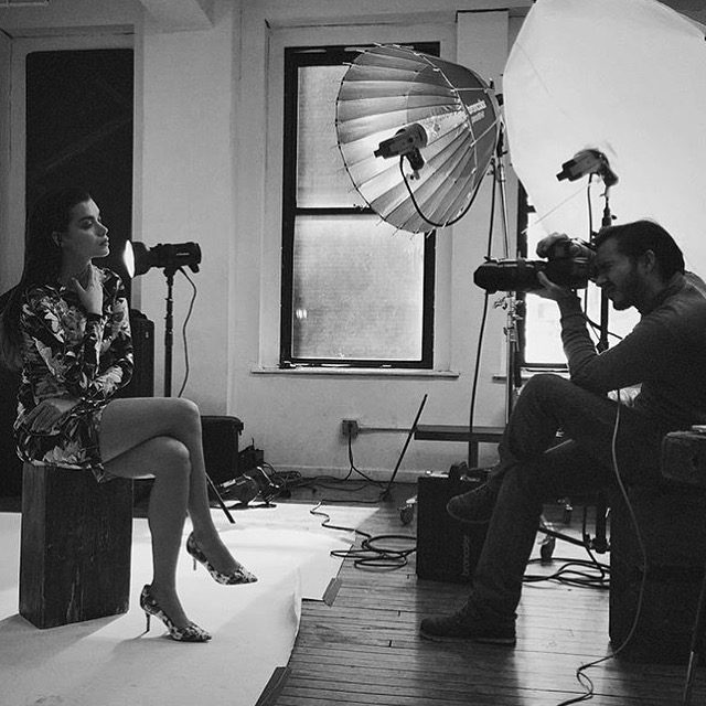 Margo Szabo   behind the scenes. Editorial shoot by  Ramos Solis  for  Midwoman Fashion Magazine