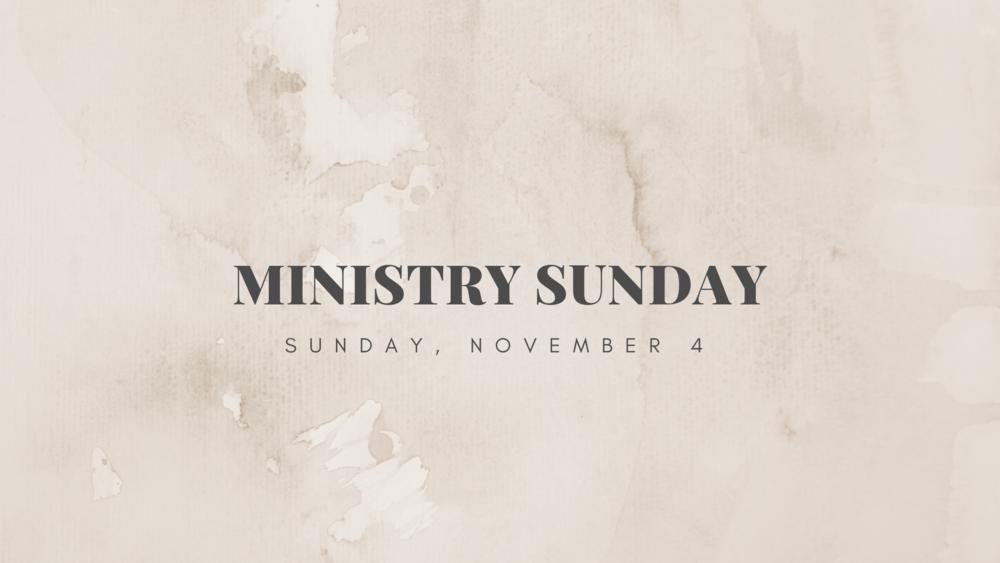 Ministry Sunday 2018