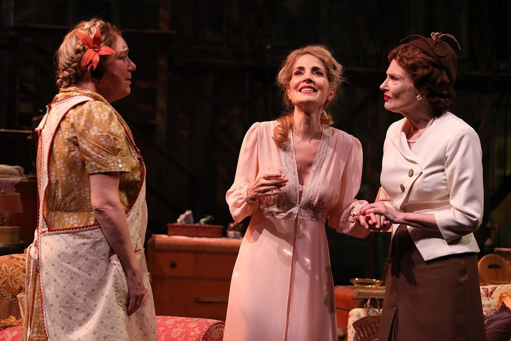 Bethany Joy Costumes was responsible for Ms. Jean Lichty and Ms. Annette O'Toole's costumes. Photo credit to Joan Marcus.