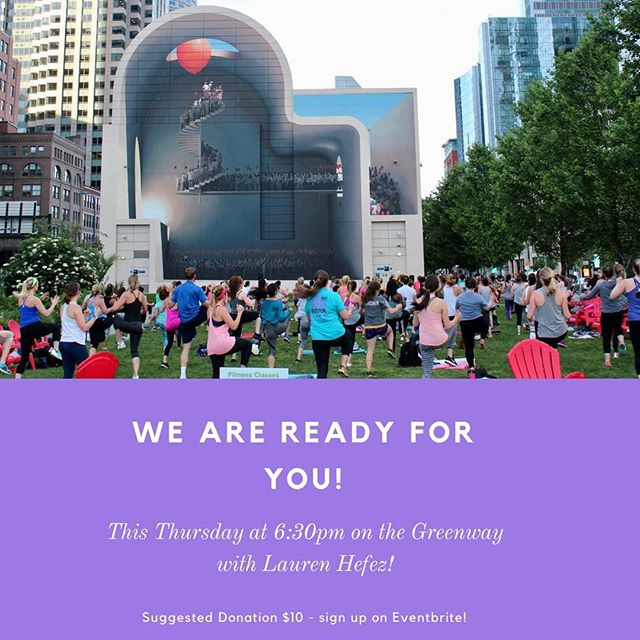 Thursday's weather is looking like perfection! There's still time to sign up for Thursday's event with @sweatwithlaurenhefez on the @rosekennedygreenway via @eventbrite (link in profile). Join us and the 150 other Boston women who have signed up so far! Afterwards, we an to hop across the street to @trilliumgarden for a post-workout beverage. We hope you'll join us so we can hear what you've been up to so far in 2018. We can't wait to see you 😎