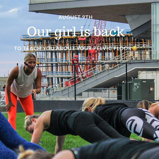 Who's joining us back on the @rosekennedygreenway with our gal @karaduvalpilates to benefit the @greghillfoundation on Thursday August 9th at 6:30pm?! Eventbrite is live and waiting for you to click the link. More details to follow but reserve your spot now! (True story, she was really speaking passionately about pelvic floors in this picture 😬😁💖🦄)!