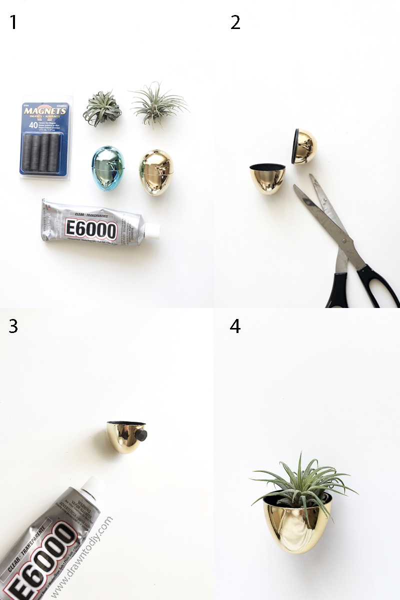 diy-magnetic-air-plant-holders