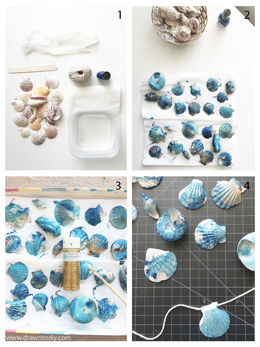 drawntodiy-marbled-seashells-with-gold