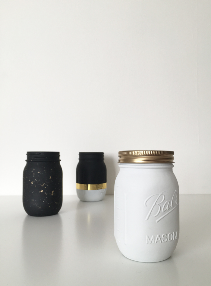 Diy Modern Mason Jars 3 Ways Drawn To Diy