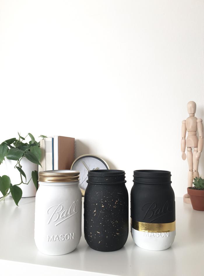 Diy modern mason jars 3 ways drawn to diy for Why are mason jars called mason jars