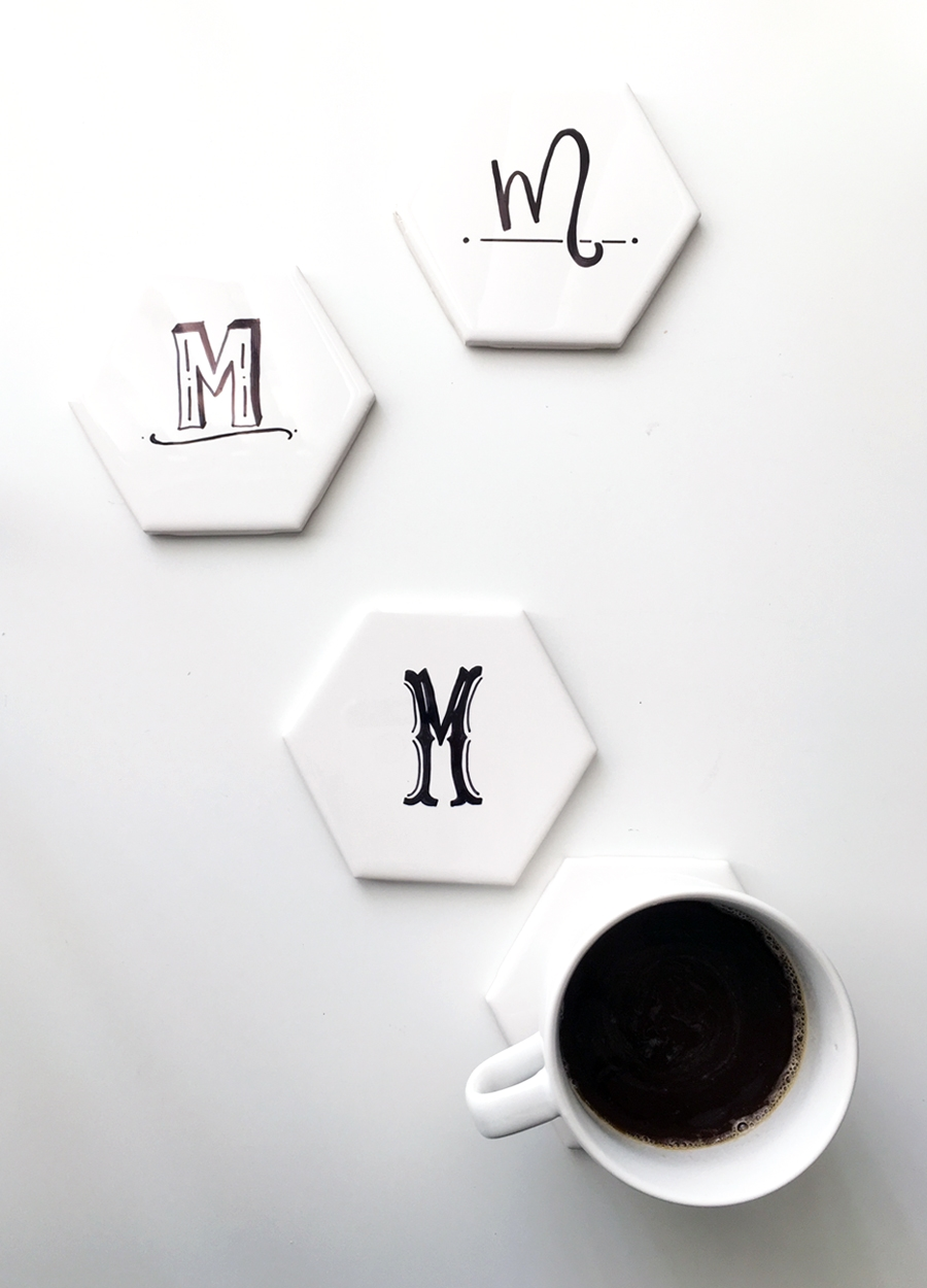 drawn-to-diy-hexagon-tile-coasters-with-initials-02