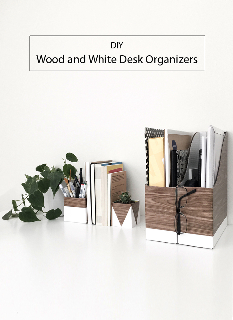 Lovely Black and White Desk organizers