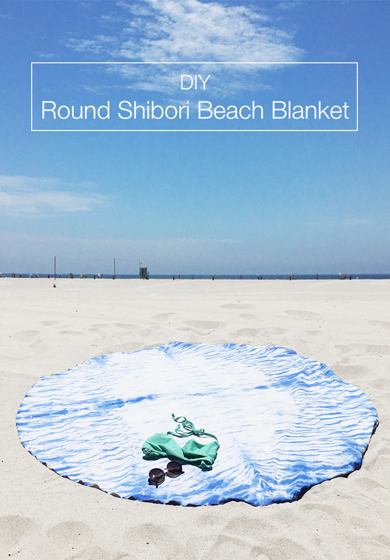 DIY Round Shibori Beach Blanket by Drawn to DIY (01)