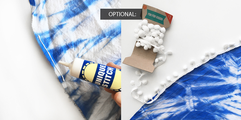 DIY Round Shibori Beach Blanket from Drawn to DIY