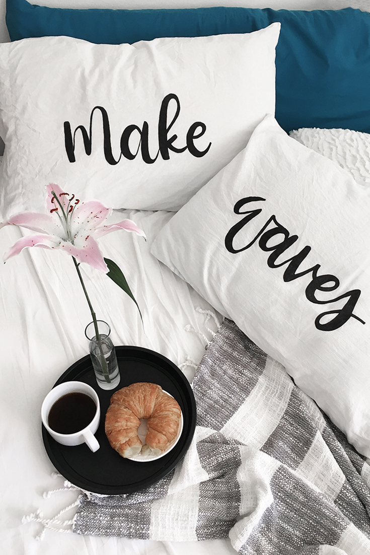 DIY Brush Lettered Pillow by Drawn to DIY 03