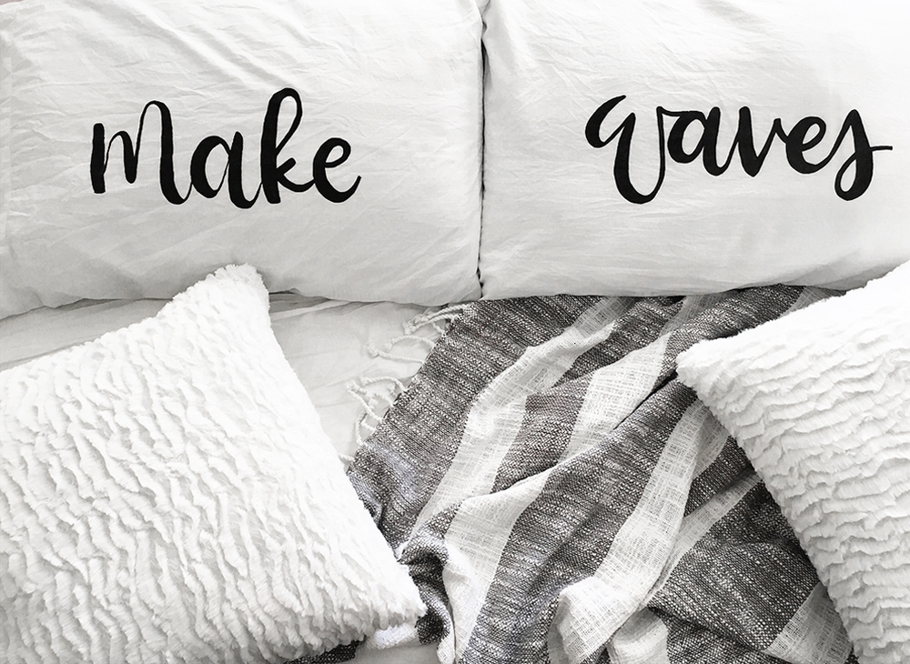 DIY Brush Lettered Pillow by Drawn to DIY 02