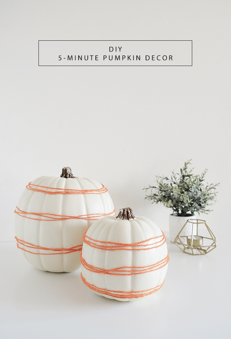 DIY 5-minute Pumpkin Decor by Drawn to DIY