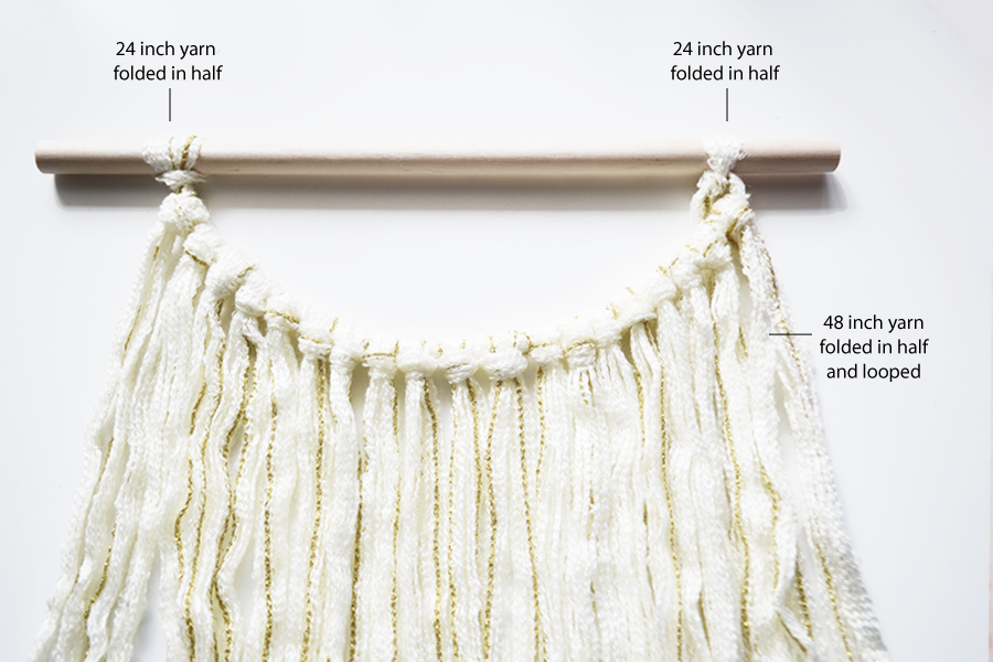 diy yarn wall hanging for fall from drawn to diy - 03